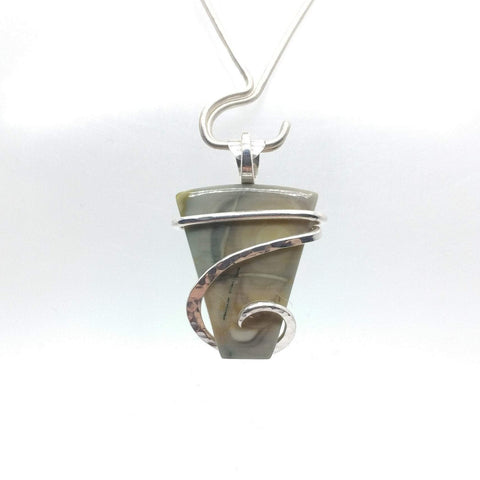 Abstract Art Royal Imperial Jasper Pendant in Sterling Silver