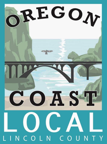 """OREGON COAST LOCAL"" LINCOLN COUNTY LOCAL PVC STICKER - Rock Your World"