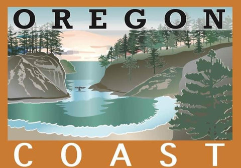 """OREGON COAST"" LOVE PVC STICKER - Rock Your World"