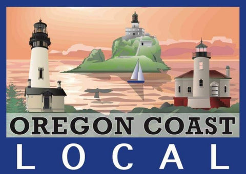 """OREGON COAST LOCAL"" PVC STICKER - Rock Your World"