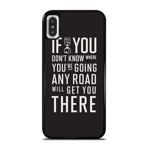 ALICE IN WONDERLAND QUOTE iPhone X / XS Case