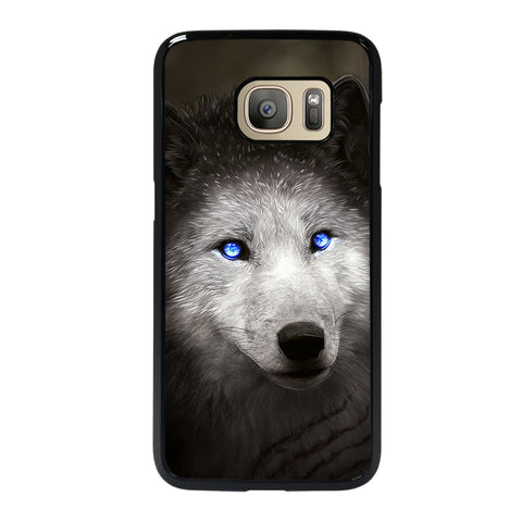 BLUE EYE GRAY FANTASY WOLF 2 Samsung S7 Case