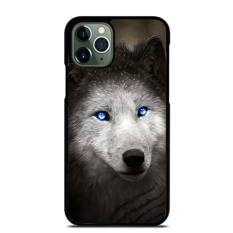 BLUE EYE GRAY FANTASY WOLF 2 iPhone 11 Pro Max Case