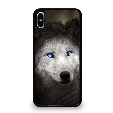 BLUE EYE GRAY FANTASY WOLF 2 iPhone XS Max Case