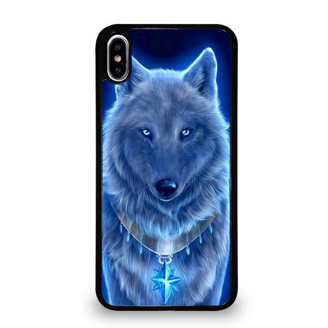 BLUE EYE GRAY FANTASY WOLF iPhone XS Max Case