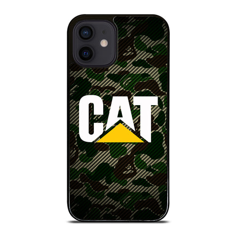 CAT CATERPILLAR BAPE CAMO CARBON iPhone 12 Mini Case