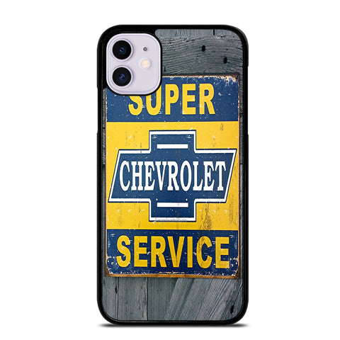 CHEVY RETRO CAR POSTER 2 iPhone 11 Case