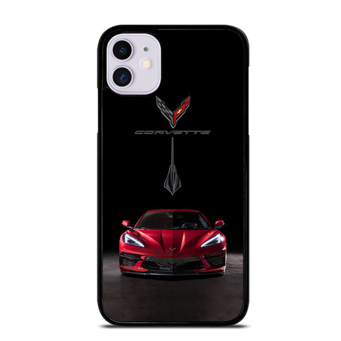 CORVETTE STINGRAY C8 RED CAR iPhone 11 Case