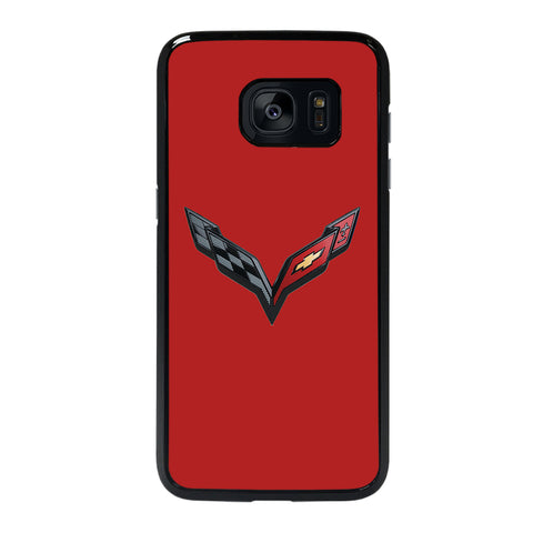 CORVETTE STINGRAY CHEVY RED Samsung S7 Edge Case