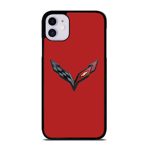 CORVETTE STINGRAY CHEVY RED iPhone 11 Case