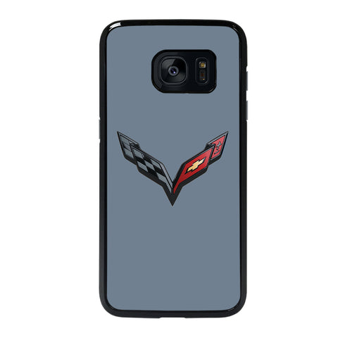 CORVETTE STINGRAY CHEVY SLATEGRAY Samsung S7 Edge Case
