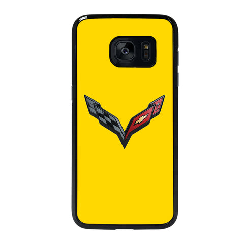 CORVETTE STINGRAY CHEVY YELLOW Samsung S7 Edge Case