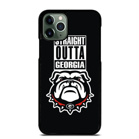 GEORGIA BULLDOGS UGA STRAIGHT OUTTA iPhone 11 Pro Max Case