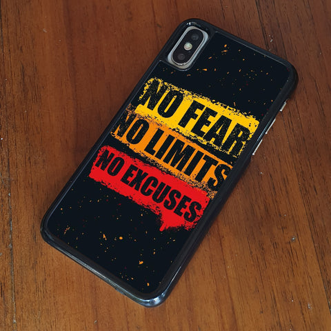 No Fear Quote iPhone Case