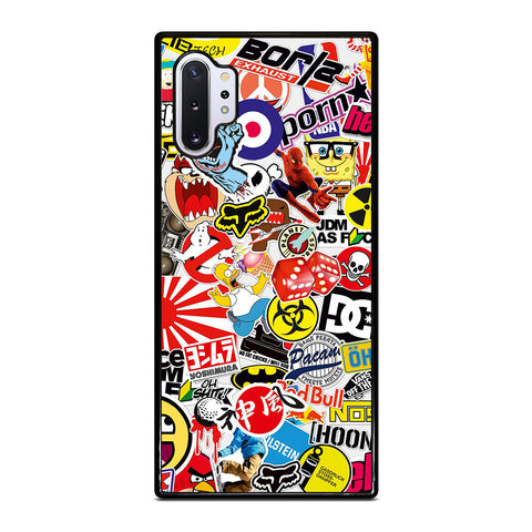 STICKER BOMB MURAL DECAL 2 Samsung Note 10 Plus Case