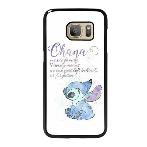 STITCH LILLO OHANA FAMILY QUOTES Samsung S7 Case