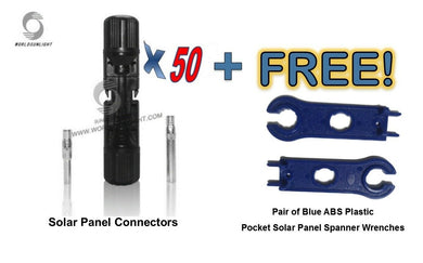 50 pairs MC4 Male and Female Waterproof Solar Connectors and free pair wrenches