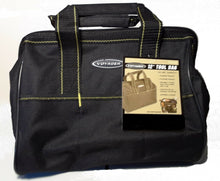"Load image into Gallery viewer, 12"" Tool Bag,  Durable Polyester,Multifunctional 21 pocket, w/zipper enclosure"