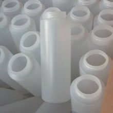 Load image into Gallery viewer, 400 ea 8 oz LDPE Cylinder Round Plastic Bottles Natural 38/400 no caps included
