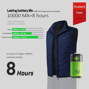 Electric Heated Vest Men Women with Solar Power Battery 20000mAh