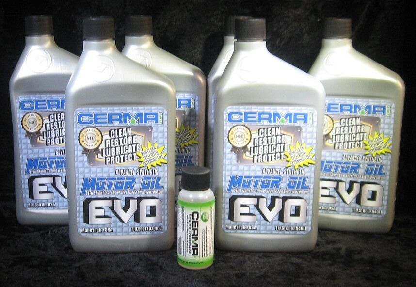 6 qt.Cerma Evo motor oil with STM3 with Cerma 2 oz Gasoline Engine Treatment.