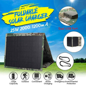 Solar Panel Charger,25W, 5V,Foldable
