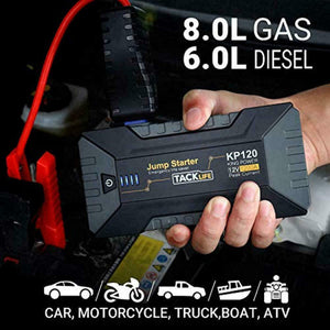 Tacklife 1200A Car Jump Starter/12V for Up To 8L Gas/6L Diesel Engine