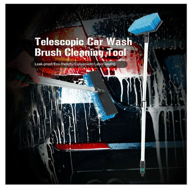 Car Wash Brush with Flo-Thru Telescoping Handle and volume control