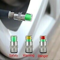 Load image into Gallery viewer, Car tire valve cap with air alert 3 Color Indicator