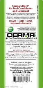 1 bottle 1.25 oz. Cerma Air Tool Lube
