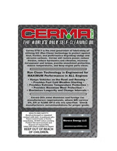 Load image into Gallery viewer, Cerma X 5qt.10w40 w/STM 30,000 mi. Motor Oil & 2 oz.Gasoline Engine Treatment.