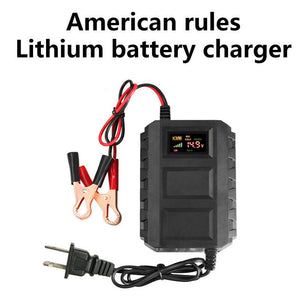 Car Battery Charger Automobile Motorcycle 12V 20A Intelligent LCD