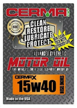 Load image into Gallery viewer, Cerma X 5qt.15W40motor oil with STM3 & 2oz diesel1to2.8 Ltr engine treatment