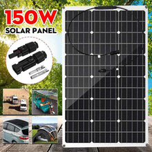 Load image into Gallery viewer, 18V Solar Panel150W Semi-flexible Monocrystalline Solar Cell Waterproof connect