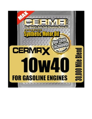 Cerma X 5qt.10w40 synthetic motor oil with STM3 self cleaning