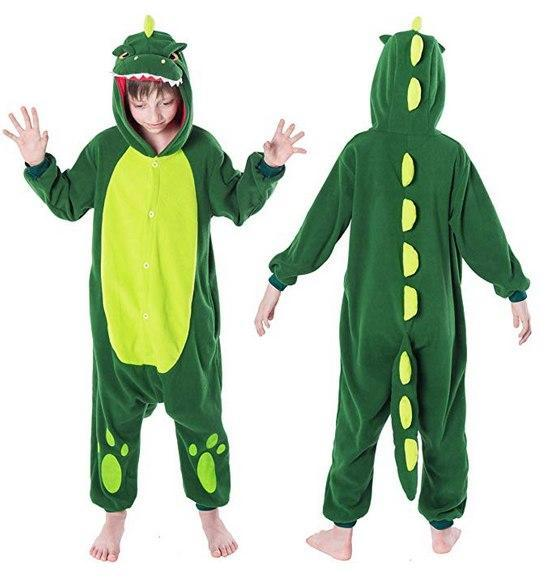 Dinosaur Animal Onesie Pajama Costume - Child