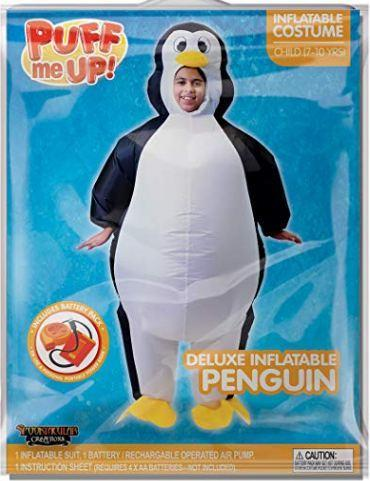 Inflatable Costume Penguin Air Blow-up Deluxe Halloween Costume - Child - Spooktacular Creations