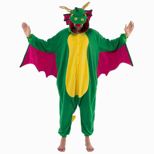 Dragon Animal Onesie Pajama Costume - Adult - Spooktacular Creations