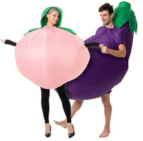 Peach and Eggplant Couple Inflatable Costume - Adult