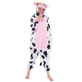 Cow Animal Onesie Pajama Costume - Adult