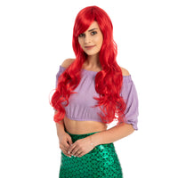 Adult Women Long Red Curly Wig