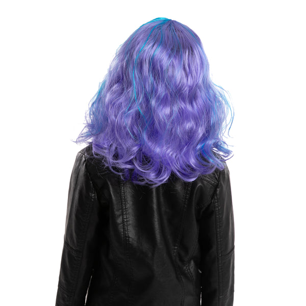 Girl Long Blue Curly Wig - Child