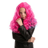 Girl Long Pink Curly Wig - Child