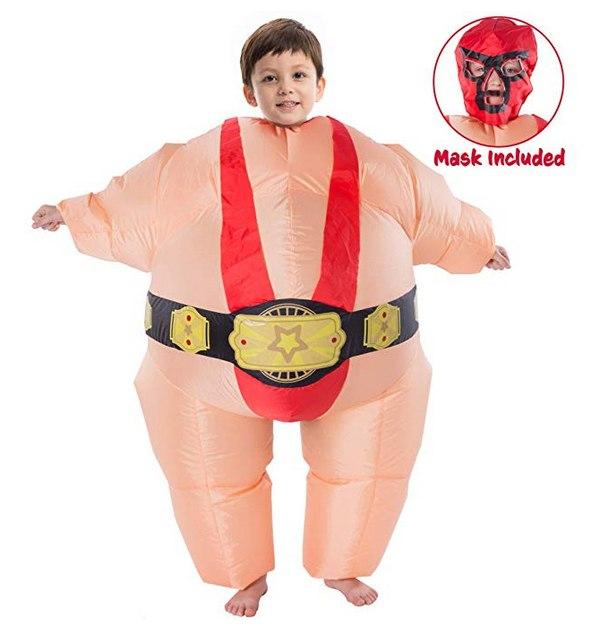 Red Wrestler Inflatable Costume - Child Size