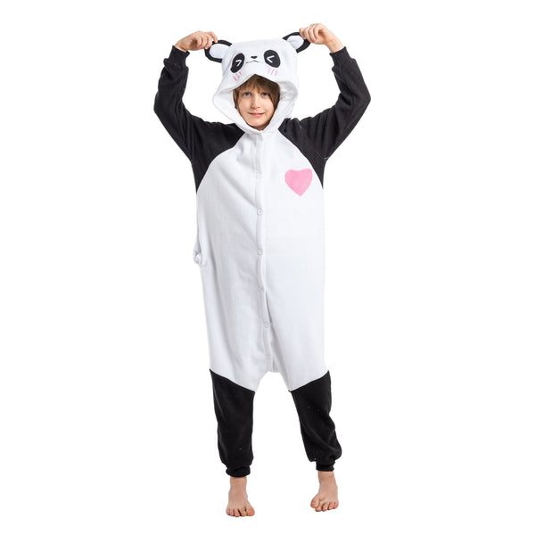 Unisex Child Pajama Plush Onesie Panda Animal Costume - Spooktacular Creations