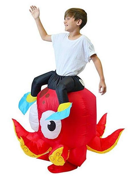 Riding an Octopus Inflatable Costume for Kids