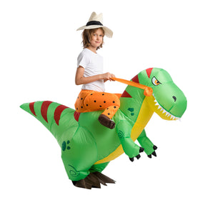Inflatable Ride-On Dinosaur Costume