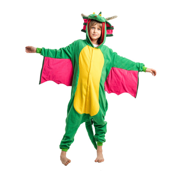 Unisex Child Pajama Plush Onesie One Piece Dragon Animal Costume