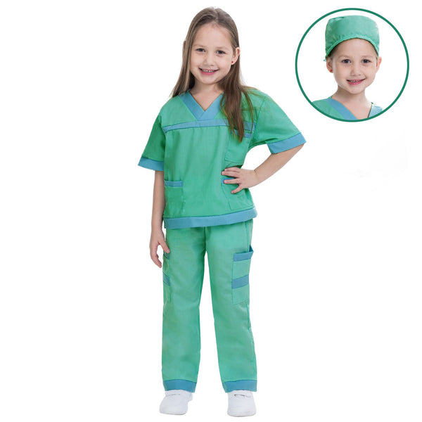 Dr. Scrubs Kids Toddler Vet Costume Set in Green