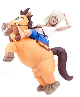Inflatable Ride-On Cowboy Costume - Adult